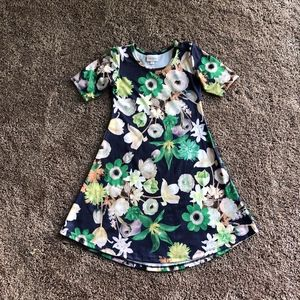 LulaRoe Girls Flowered Dress Size 8